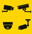 CCTV icons set vector image