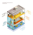 cleaning infographic isometric layout vector image