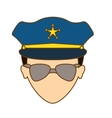 color police face icon image vector image