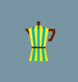 Colorful Stripes Coffee Pot vector image