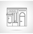 Dairy store flat line icon vector image