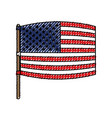 flag united states of america wave out design in vector image