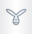 funny rabbit line icon design vector image