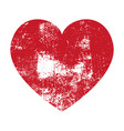grunge heart red heart heart shape distressed vector image