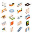 hypermarket furniture objects set vector image