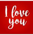 I Love You Lettering Design vector image