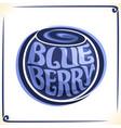 logo for blueberry vector image