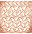 Old shabby background with hearts vector image