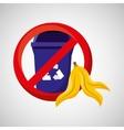 organic trash prohibited graphic vector image