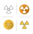 Radiation sign icons vector image