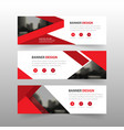Red triangle abstract corporate business banner vector image