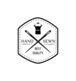 Sewing Supplies - Mannequin and tape measure Black vector image