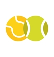 Tennis ball isolated sport equipment game circle vector image