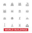 world buildings pagoda cottage villa mansion vector image