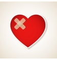 Wounded heart vector image