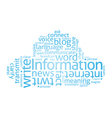 Information Cloud vector image vector image