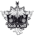 electric guitar wings speakers and rock and roll vector image vector image