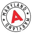 Maryland stamp rubber grunge vector image