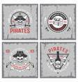 lifestyle of pirates concepts vector image