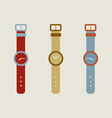 Set Of Wristwatch vector image