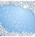 Christmas background of snowflakes vector image vector image