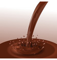 Chocolate flow background vector image vector image