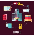 Hotel service flat design vector image vector image
