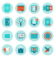 web development and digital marketing icons vector image