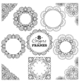 Set of lace frames and corners with transparent vector image vector image