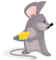 Mouse with Cheese vector image
