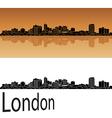 London skyline in orange vector image vector image