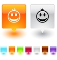 smiley square button vector image vector image