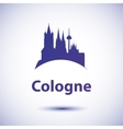 silhouette of the symbol of Cologne Germany vector image