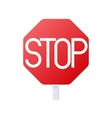 Stop sign icon cartoon style vector image