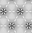 Gray dotted wavy lines forming stars vector image