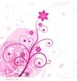 Grunge flower pink vector image