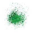 watercolor green blot vector image