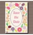 Autumn wedding invitation vintage on wooden vector image