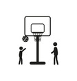 Summer sports icon - basketball vector image
