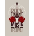 poster for festival rock music vector image