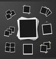 EPS10 Retro Instant Photo Frame Mockup vector image vector image