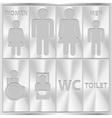 Aluminium Toilet Sign Men and Women WC plate vector image