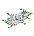 city megapolis structure vector image