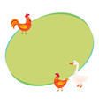 cute funny farm birds - rooster hen goose - on vector image vector image