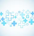 Blue medical design vector image