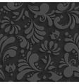 Black 3d Floral Seamless Pattern vector image vector image
