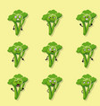 broccoli negative emotions vector image