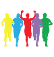 Colourful runners vector image