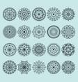 hand drawn henna abstract mandala pattern flowers vector image