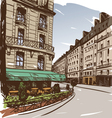 Hand drawn Paris cityscapes vector image